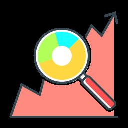 Icona analisi e monitoraggio