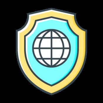 Icona antivirus firewall sito