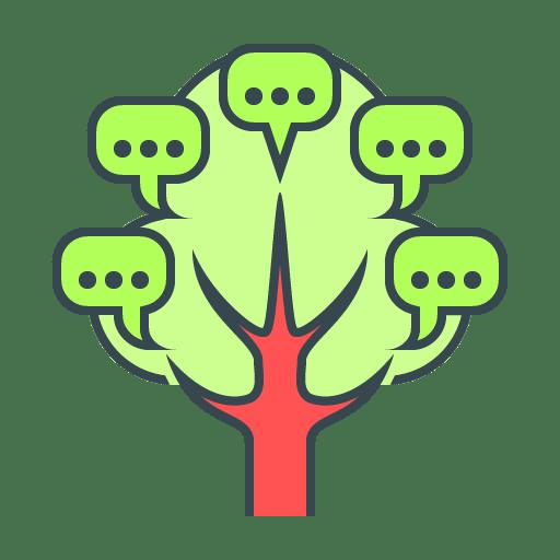 Icona strategie di marketing per startup